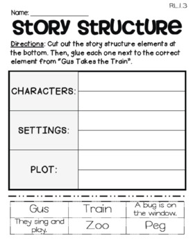 Gus Takes the Train  (Journeys 1st - Supplemental Materials)