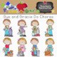 Gus and Gracie Do Chores Clipart Collection || Commercial Use Allowed