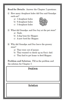 Gus and Grandpa (Claudia Mills) Novel Study / Reading Comprehension