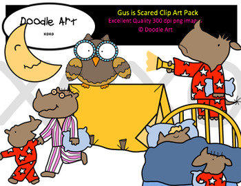 Gus is Scared Clipart Pack