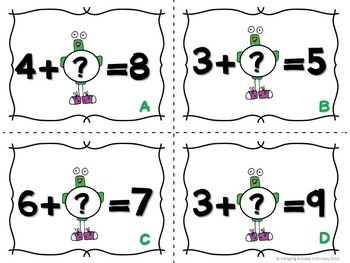 5 Math Centers for Addition and a Math Craftivity