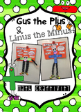 Gus the Plus & Linus the Minus. Math Addition and Subtraction Craftivity