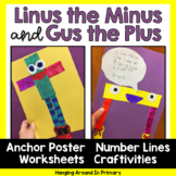 Math Craftivity for Addition & Subtraction with Gus the Plus and Linus the Minus