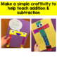 Addition & Subtraction Craftivity - Gus and Linus