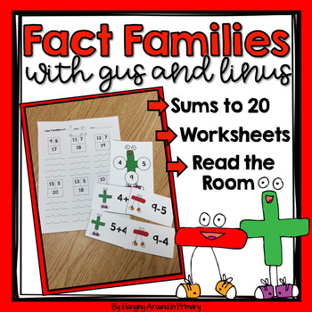 Fact Families Math Center and Read the Room