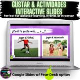 Gustar & Actividades Interactive Google Slides w/ Pear Dec