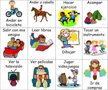 Gustar Activities Flash Cards