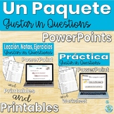 Spanish Gustar Activity Questions lesson and Practice