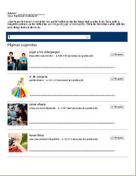 Gustar Beginner Spanish Lesson w/ PPT, Notes, Facebook-Inspired ...