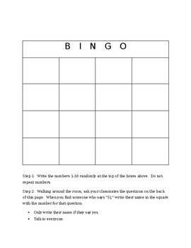 Gustar Bingo Game