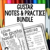 Gustar Doodle Pages  Bundle of Worksheets and Notes for middle school spanish