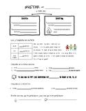 Auténtico 1 - 1A: Gustar Graphic Organizer