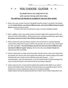 Free 8th Grade Spanish Homework | Teachers Pay Teachers