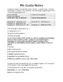 Gustar Notes and Worksheet