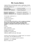 Gustar Notes and Worksheet