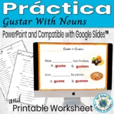 Gustar with Nouns Practice (Spanish): - Animated, interact