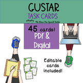 Gustar Task Cards, 45 cards plus 3 editable cards!  Spanish lessons