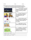 Gustar multiple sections test or quiz