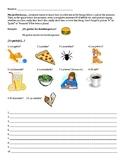 Gustar + nouns (singular and plural) sentence writing worksheet