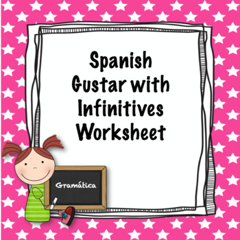 Spanish Gustar with Infinitive Practice Worksheet