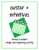 Gustar with Infinitives - ¡Vamos a hablar! Mingle Card Speaking Activity