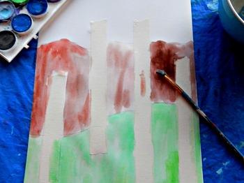 """Gustav Klimt Lesson """"Forest of Birch Trees"""" Kids Art Lesson Grades K-6"""