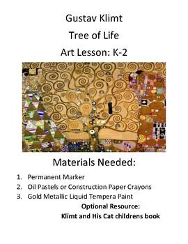 Gustav Klimt Tree of Life Art Project