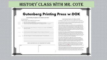Gutenberg Printing Press DOK