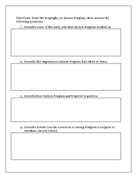 Gutzon Borglum Biography with Comprehension Questions