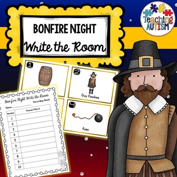 Guy Fawkes Bonfire Night Write the Room