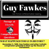 Guy Fawkes Differentiated Reading Passage November 5