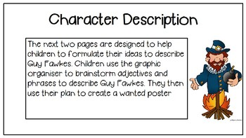 Guy Fawkes and the Gunpowder Plot Descriptive Writing - Character Description