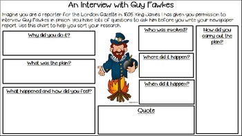 Guy Fawkes and the Gunpowder Plot Informational Text - Newspaper Reports