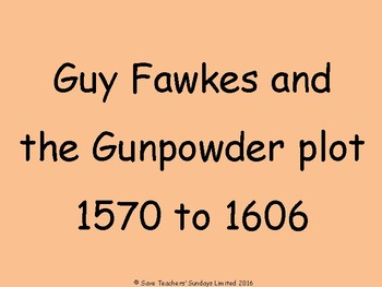 Guy Fawkes problem-based / scenario-based Lesson plan, PowerPoint and Worksheets