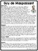Author Guy de Maupassant Biography Reading Comprehension Worksheet