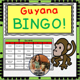 Guyana Country Bingo- 20 Different Boards