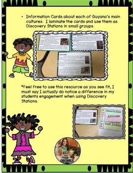 Guyana Bundle-Discovery Stations, Webquest, and MORE!