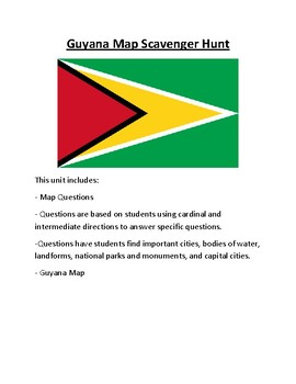 Guyana Map Scavenger Hunt
