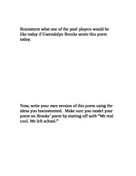 Gwendolyn Brooks-The Pool Players