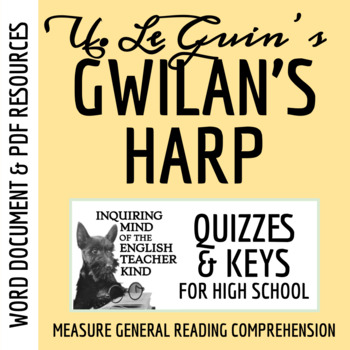 """""""Gwilan's Harp"""" by Ursula K. Le Guin - Guided Reading Handout"""