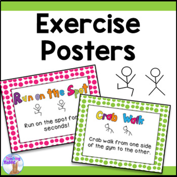 Gym Exercise Posters
