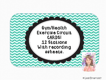Gym/ Health/ Indoor Recess Exercise Activity Cards with Tracking Table