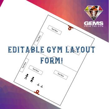 PE Lesson Plan Gym Layout Form - Editable!