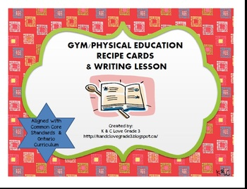 Gym Recipe Cards & Writing Lesson {DPA}