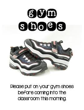 Gym Shoes Reminder