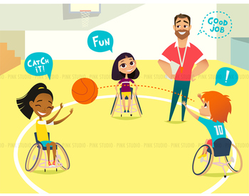 Gym class - Illustrated Clipart Graphic