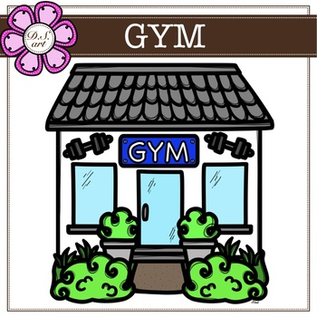 Gym digital Clipart (color and black&white)