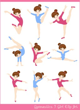 Gymnast 3 Clipart Set