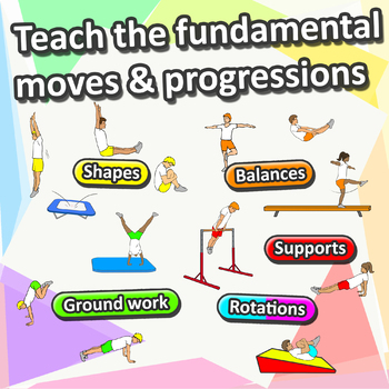 Gymnastic stations for PE - Complete skill activities & Lesson plans (grade 3-6)