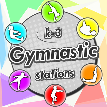 Gymnastic stations for PE - Complete skill activities & Lesson plans (grade K-3)
